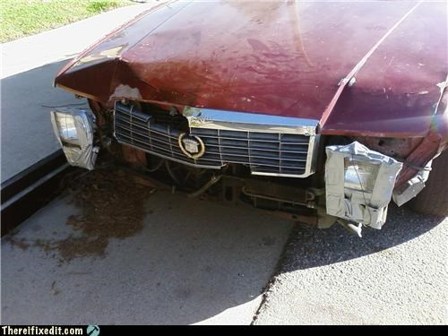 bumper car duct tape headlight
