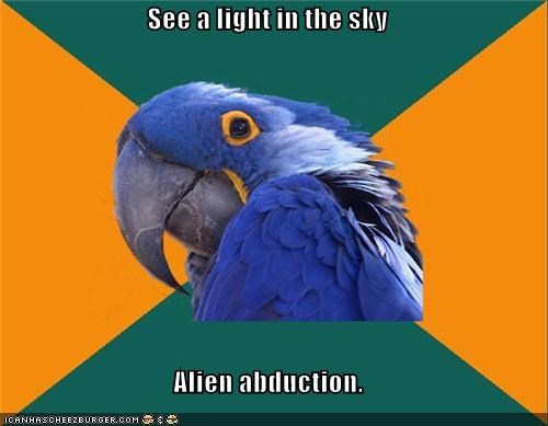 abduction,Aliens,Memes,Paranoid Parrot,probe