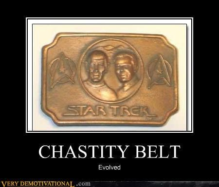 belt buckle chastity fashion kirk lol nerds sex Spock Star Trek - 4185760256