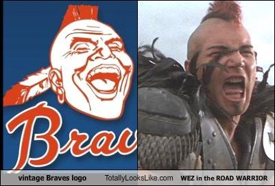 braves logo native americans road warrior wez
