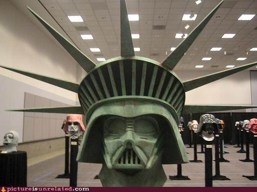 amazing,art,darth vader,never forget,Statue of Liberty,usa,wtf