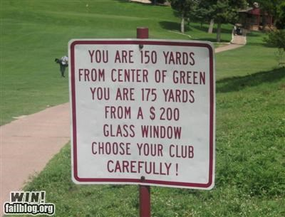 golf signs sports warning - 4187678208