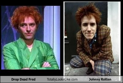 actors drop dead fred johnny rotten movies musicians punk rocker redheads sex pistols