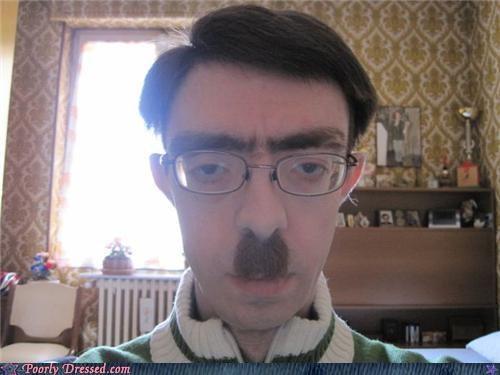 eww glasses hair mustache - 4187828224