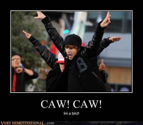 CAW! CAW! Im a bird!