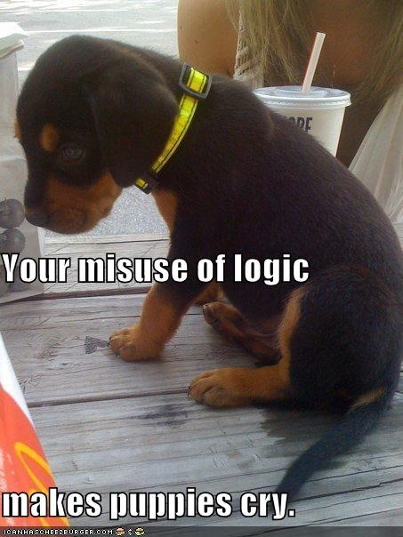 cause cry crying Hall of Fame logic misuse puppies puppy rottweiler Sad