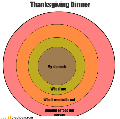 Thanksgiving Dinner Amount of food per person What I wanted to eat What I ate My stomach