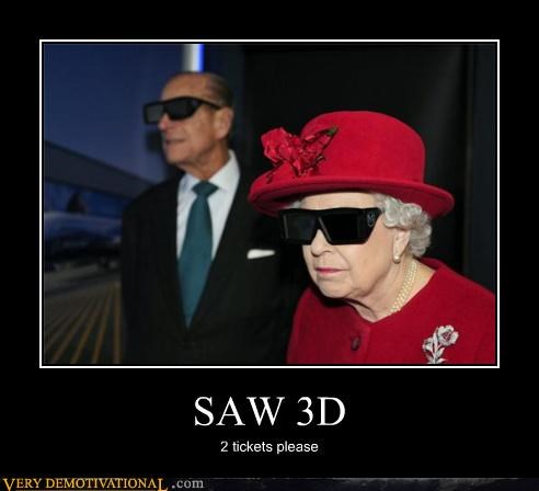 glasses gore lol movies old people queen elizabeth rose saw - 4189367296