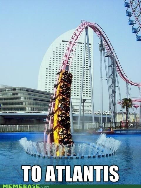 atlantis islands Memes roller coaster theme park water - 4189723904