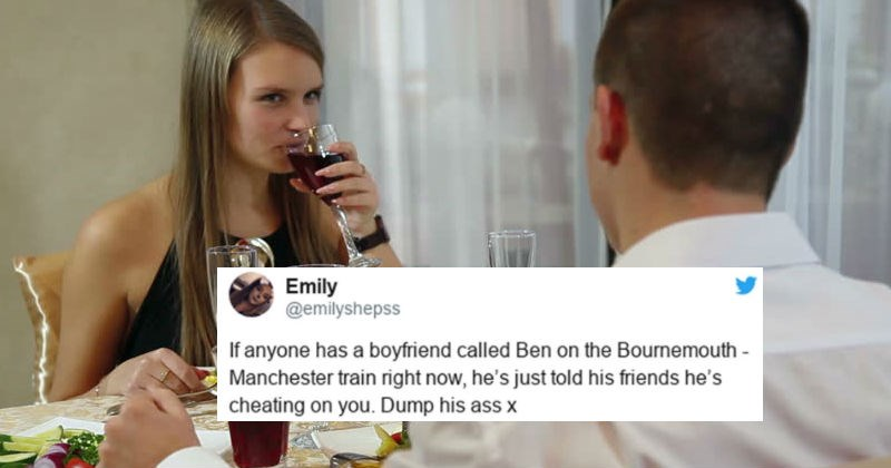 Girl overhears a guy bragging about cheating on his girlfriend and she proceeds to go on ridiculous manhunt.
