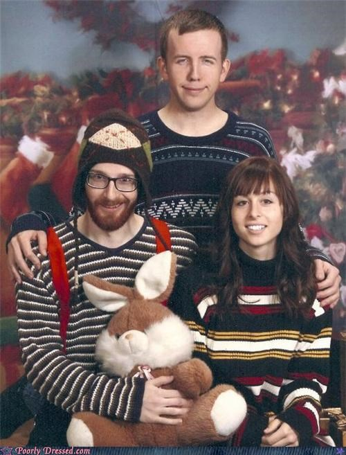 beard,family photo,Genetics,hat,smile