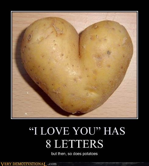 food letters love nom nom nom potatoes