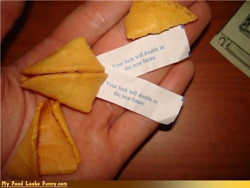 chinese cookies double fortune fortune cookie luck Sweet Treats - 4191126528