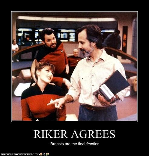 actor celeb demotivational funny Jonathan Frakes sci fi Star Trek - 4191605248