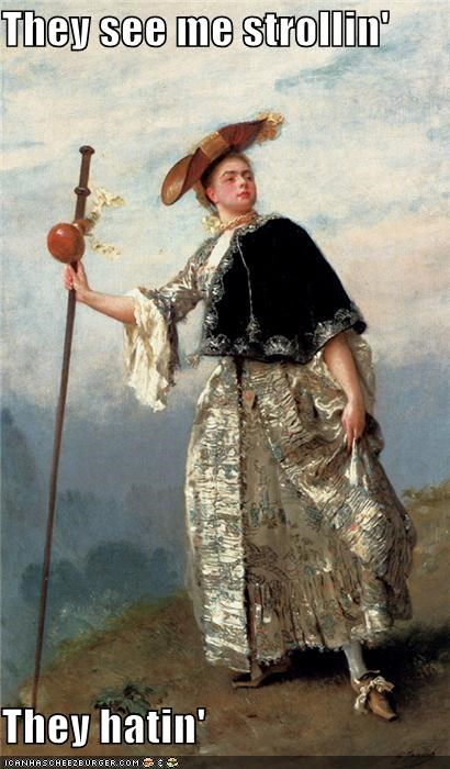 art funny lady painting portrait - 4191898368