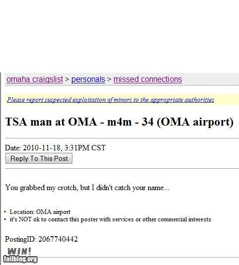craigslist,Travel,TSA