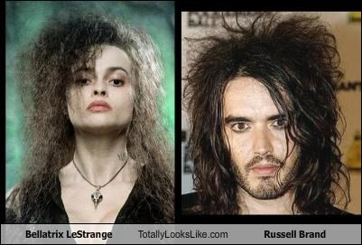 actor,bellatrix lestrange,comedians,Harry Potter,helena bonham-carter,Russell Brand