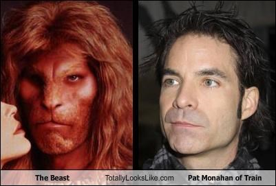 Beauty and the Beast makeup musician pat monahan The Beast train - 4192531200
