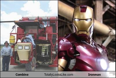 combine farming equipment iron man movies superhero