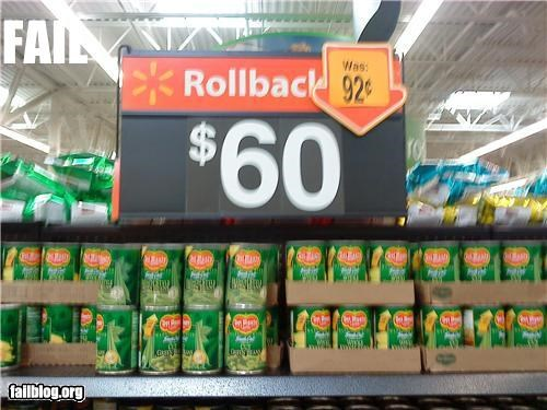 Price reduction fail Found in my local Wal-Mart