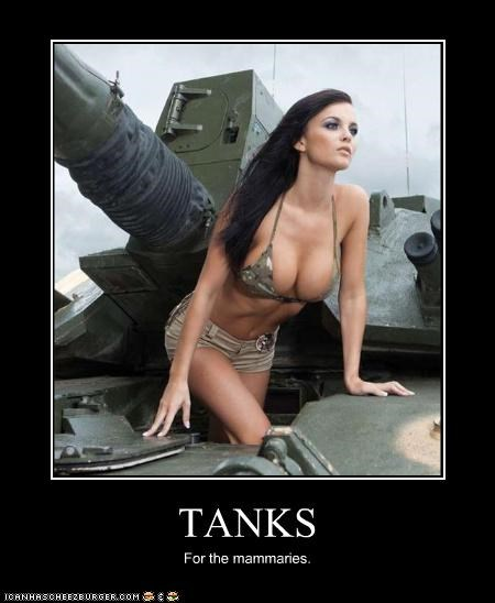 TANKS For the mammaries.