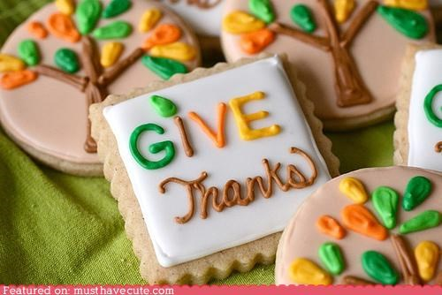 cookies,epicute,give thanks,icing,thankful,thanksgiving