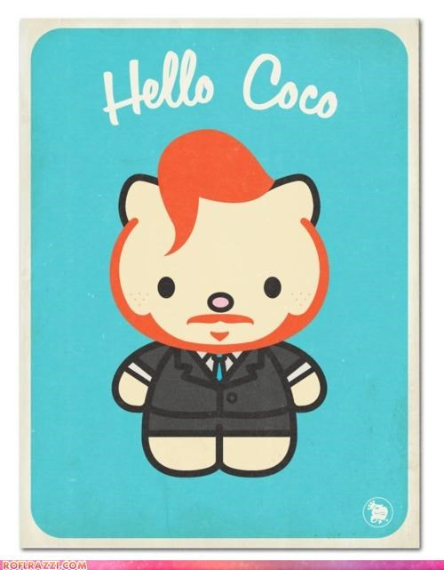 art,conan obrien,Hall of Fame,hello kitty