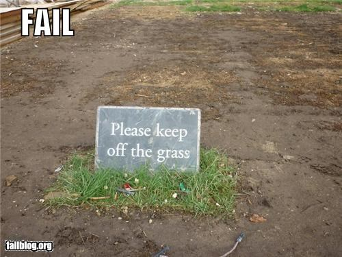 failboat,grass,g rated,irony,keep off,landscape,sings