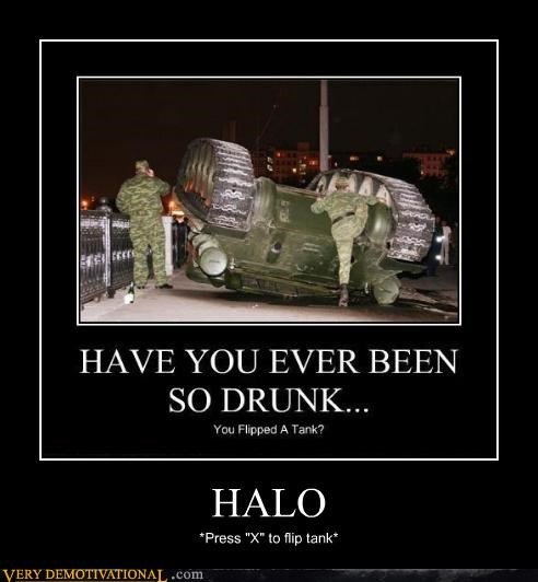 drinking halo IRL tank video games wtf - 4194097664
