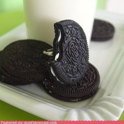 accessory cookies Jewelry oreo ring snack - 4194112512