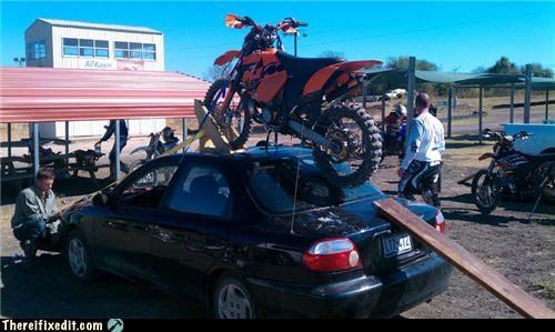 bike motorcycle towing - 4194430976