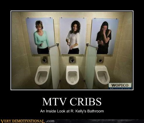 bathroom humor,mtv,r kelly,toilets,water sports