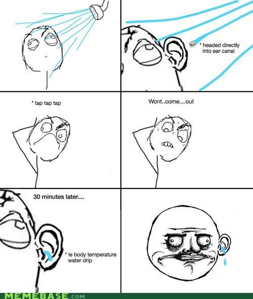 ear,me gusta,Memes,shower,water
