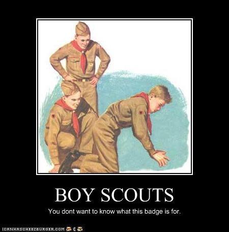 art boy scouts demotivational funny illustration