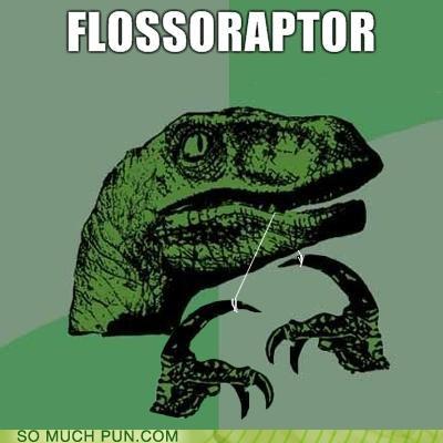 floss flossing literalism neologism Raptor velociraptor - 4195629056