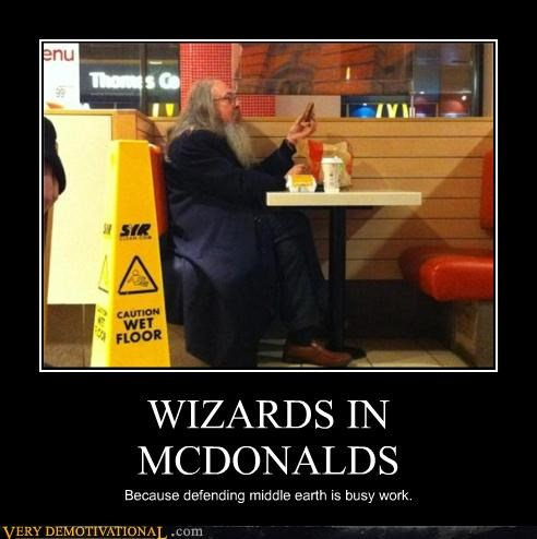 food,magic,McDonald's,middle earth,nom nom nom,wizards