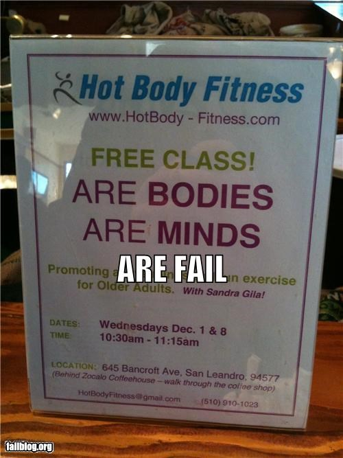 are,failboat,grammar,g rated,gym,our,posters,signs
