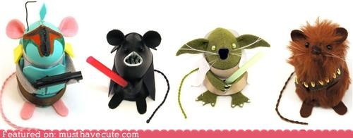 characters,mice,mini,Movie,nerdy,star wars