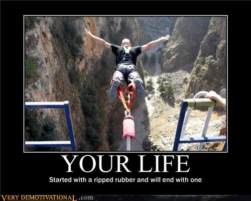 bungee extreme sports failed birth control idiots Sad sad but true