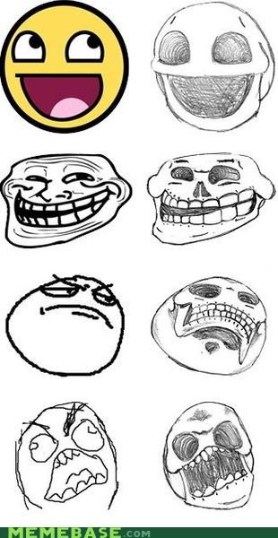 awesome,faces,fossils,internet,Memes,rage,Rage Comics,skulls
