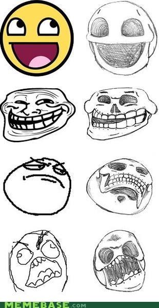 awesome faces fossils internet Memes rage Rage Comics skulls - 4196634112