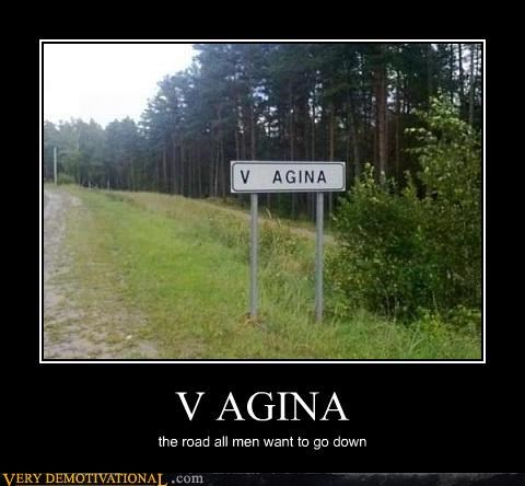 V AGINA the road all men want to go down