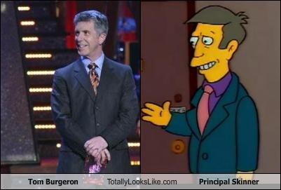 cartoons Hall of Fame host Principal Skinner the simpsons Tom Bergeron TV