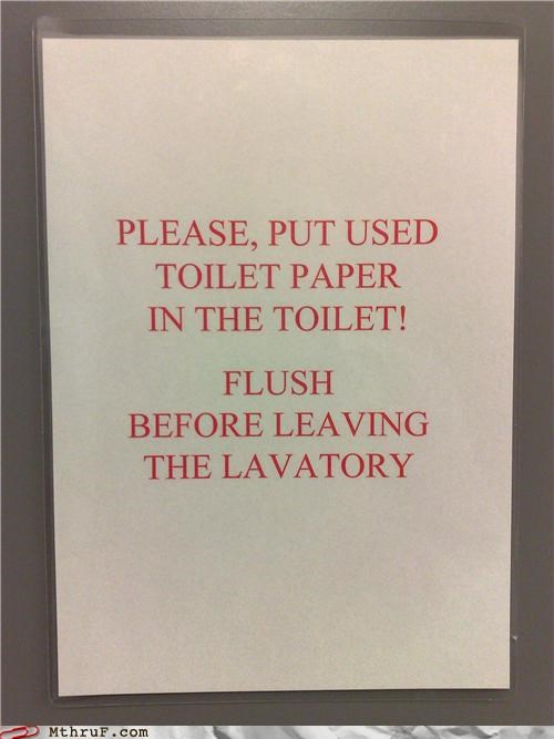 bathroom gross notes signs toilet paper - 4197328128