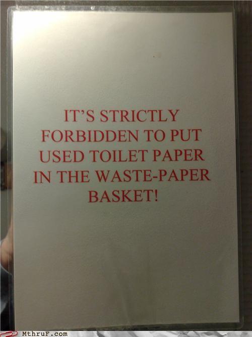 bathroom poop sign toilet paper - 4197353472