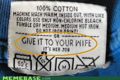 clothes IRL marriage tag washing wife - 4197465600
