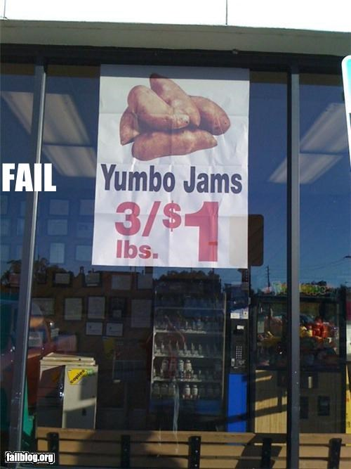 Yumbo Jams Supposed to be Jumbo Yams