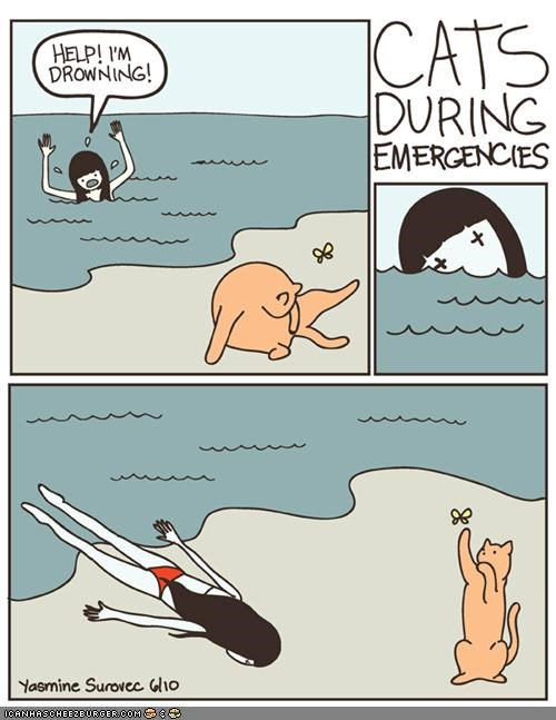 comics drowning evil FAIL helpful lazy thanks a lot cat - 4197790208