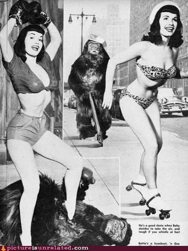 ads,babes,costume,monkey,vintage,wtf