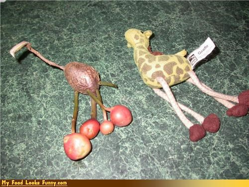 fruits-veggies,giraffes,look alike,potato,toy